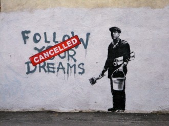 bansky follow your dreams