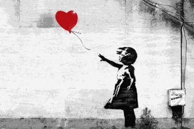 bansky red balloon