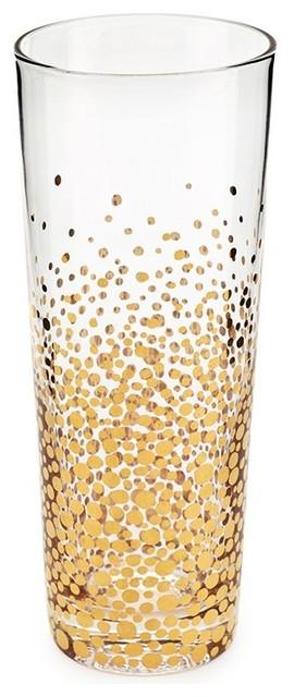 Gold champagne flute
