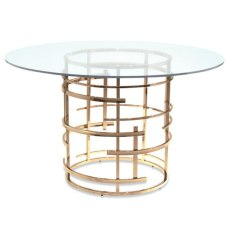 Worlds Away gold leaf dining table