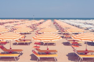 Rimini orange umbrellas